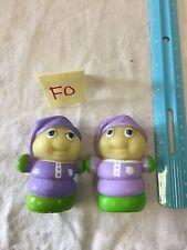 Lot Of 2 Playskool Hasbro Glow Gloworm Worm Glo Bug Friends Figure 80s Toy