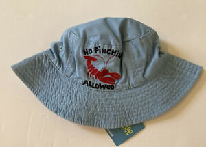 NWT Gymboree Eastern Seaboard 2T-5T Plaid & No Pinching Lobster Reversible Hat
