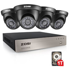 ZOSI 8CH 1080N DVR 1TB HDD 720P 3.6mm Outdoor CCTV Home Security Camera System