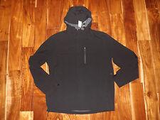 NWT Mens 32 Degrees Black Windbreaker Weatherproof Rain Jacket Size L Large
