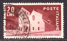 ITALY #521 20L BROWN RED, 1949,  VF, USED