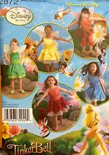 Simplicity Sewing Pattern Costume 2872 Tinkerbell Fairy Angel Childs 3 4 5 6 7