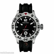 Nautica BFD 100 Date Black Dial Black Band N14600G Watch