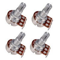 4 Stück A250K / B250K Ohm Einzel Poti Potentiometer Ersazteile für Gitarre