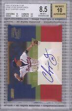 CHIPPER JONES 2001 Stadium Club Lone Star Signatures #LS7 BGS 8.5 / AUTO 10