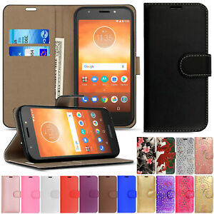 Leather Wallet Flip Phone Case Cover For Moto G8 G7 G6 E4 E5 E6 E6s E7 Play Plus