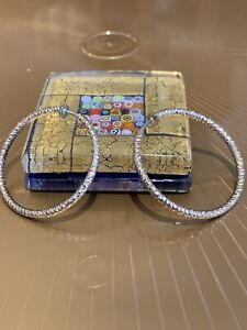 """Non Pierced Clip On Hoop Earrings s 1 1/2"""" Round ,gold Tone"""
