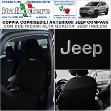 COPPIA COPRISEDILI JEEP COMPASS SU MISURA Foderine Fodere ANTERIORI Nero Jeep