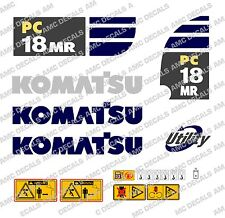 KOMATSU PC18MR DIGGER DECAL STICKER SET