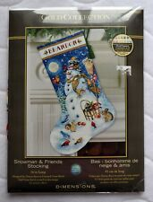 SNOWMAN & FRIENDS Dimensions Gold Collection  Stocking Counted Cross Stitch