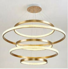 Modern ring chandelier Dimmable led villa living room dining room pendant light