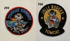 Jolly Rogers TomCat USA Navy F-14 Fighter Jets Military Iron Sew On Patch Fabric
