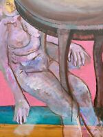 Brigitte Tietze Berlin Peinture À L'Huile Dépression 1 Intérieur De Weiblichem