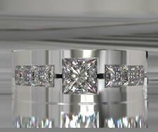 Men's Engagement & Wedding Ring Band 2.80 Ct Diamond Classic Band 14K White Gold