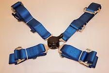 """Universal Azul Racing del cinturón de seguridad arnés De Seguridad 4 Puntos de 2 """"de ancho"""