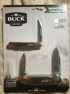 New Folding Buck Knives 379 Solo&389 Canoe Special Edition Collectors Set