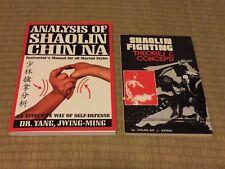 Lot of 2 Chinese Martial Arts Books / Analysis of Shaolin Chin Na ; Kung Fu