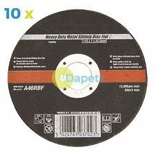 "Professional Thin Metal Cutting Discs x 10 115mm / 4.5"" Slitting Angle Grinder"