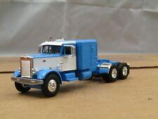 """dcp/First Gear blue/white Peterbilt 351 60""""sleeper tractor no box 1/64"""