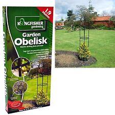 1.9m Garden Obelisk Black Metal Outdoor Trellis Climbing Plant Support Frame