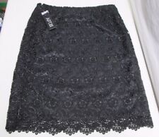 Apt 9 Skirt Black Floral Lace Lined Size 4 Sexy NWTs Style NN2981183