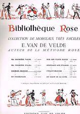 Premier Menuet pour VIOLON ou MANDOLINE BIBLIOTHEQUE ROSE d'Ernest VAN DE VELDE