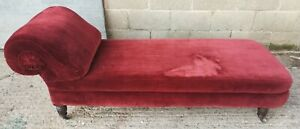 Antique Victorian Chaise Longue