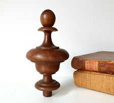 """Antique wood post finial Wooden topper Furniture Architectural salvage Bed 4.57"""""""