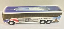 """NYC Coach Bus with Freedom Tower graphic Diecast Car Model NYC Souvenirs 6"""""""
