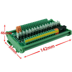 16 Channels Single Chip Microcomputer PLC Signal Amplifier Board output PNP