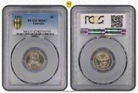 1976 Australia 5 Cents PCGS MS67 Only 16 Graded Higher from 113 Million Minted!!