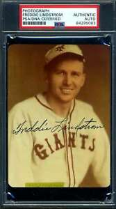 Freddie Lindstrom PSA DNA Coa Signed Photo Autograph