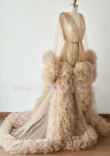 Dark Champage Sexy Pregnant Photo Dress Maternity Ruffle Dresses Bridal Robe