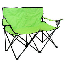 Charles Bentley Double Folding Camping Chair Love Seat Sofa Travel Chair