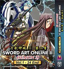 DVD Japan Anime SWORD ART ONLINE 2 Season II Complete Series (1-24) End FREE SH