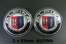 2x 82mm Alpina Auto Fronthaube Motorhaube Emblem Logo Heck Kofferraum
