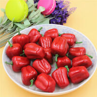 50 pcs Lifelike Artificial Plastic Bell Peppers Vegetables Miniature Craft Decor