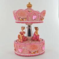 Baby Girl Pink Musical Ballerina Carousel Music Box Ornament