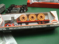Mp D&S tractor w flat trailer + reels 1/87 Ho scale model train railroad