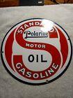 Vintage+Standard+Polarine+Motor+Oil++Enamel+Sign+Size+11.75%22+Inches+Round