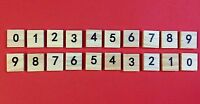 Scrabble Tiles High Quality Wooden Numbers - 100 piece sets
