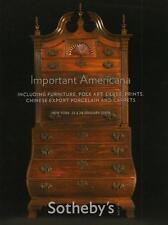 Sotheby's Americana Furniture Folk Art Chinese Export Auction Catalog 2009