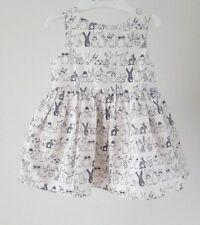 NEXT Baby Girls Rabbit Bunny Print Party Dress 100% Cotton__3-6 Months BNWT