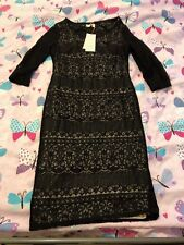 Per Una black lace dress size 10 BNWT RRP £55 Wedding Christening Cruise Casual