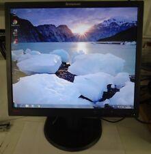 """Ecran LCD LENOVO ThinkVision L193pC 19"""" Monitor avec pied d'écran réglable"""