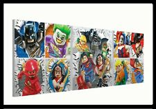 "Lego Batman (088) - Set of three 10"" Mounted Square Canvas Pictures Prints"