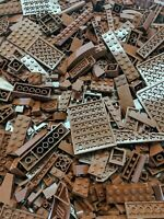Lego 1 POUND LBS Brown Bricks Plates Parts Bulk Lot RANDOM PIECES per order
