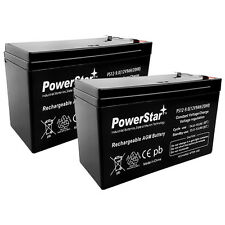 PowerStar 2 Pack - 12V 9Ah Razor Ground Force Drifter Go Kart Battery - 2YR WAR