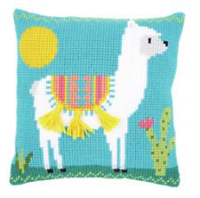 Llama/Alpaca - Chunky Cross Stitch Cushion Kit Printed Tapestry Canvas Vervaco