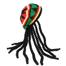 RASTA HAND DREADLOCKS HAT JAMAICAN FANCY DRESS PHOTO BOOTH RASTA GANJA MAN